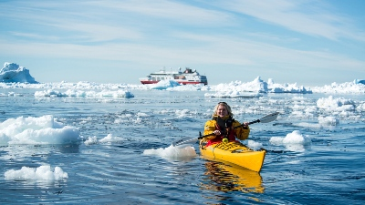 Hurtigruten i Antarktis. Foto Ester Kokmeijer/Hurtigruten
