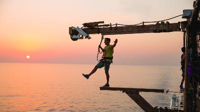 cruise-norwegian-getaway-planken-solnedgang